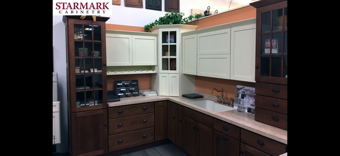 StarMark Cabinetry kitchen display at Elmira HEP Sales, 2400 Corning Road