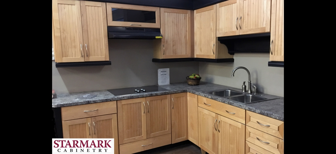 StarMark Cabinetry kitchen display at Cortland HEP Sales/North Main Lumber, 797 Route 13