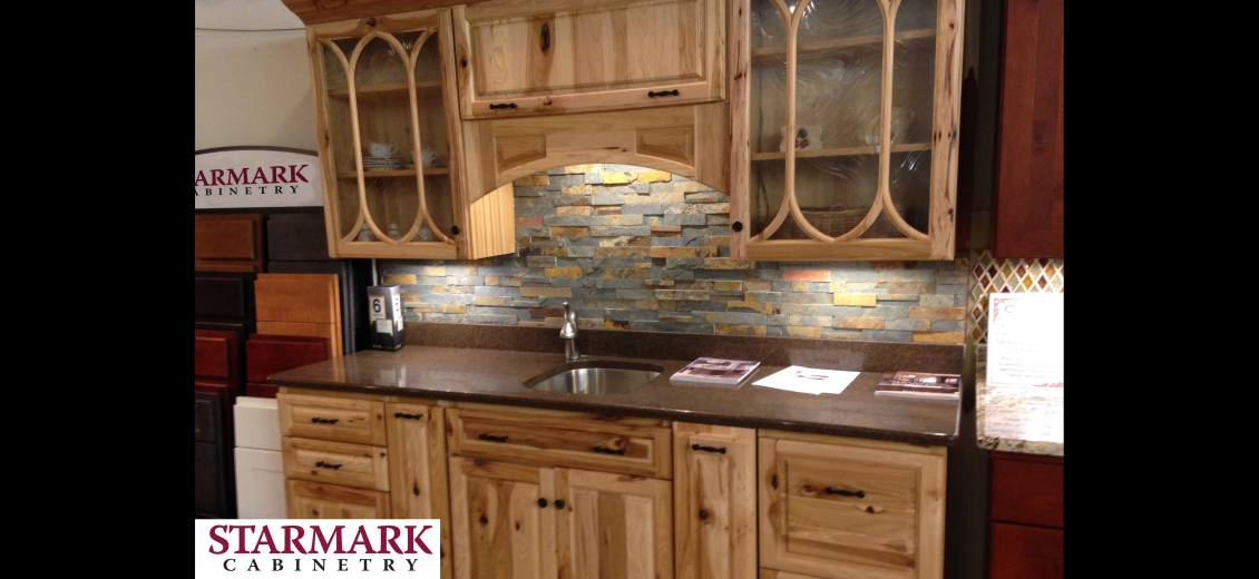StarMark Cabinetry kitchen display at Ithaca HEP Sales, 12 Utility Drive