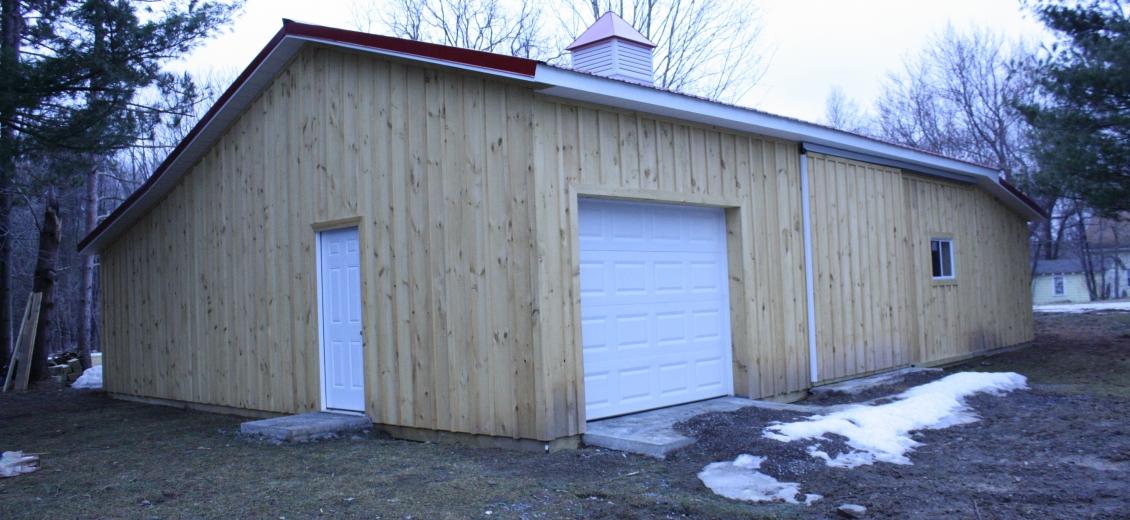Pole barn-style horse barn