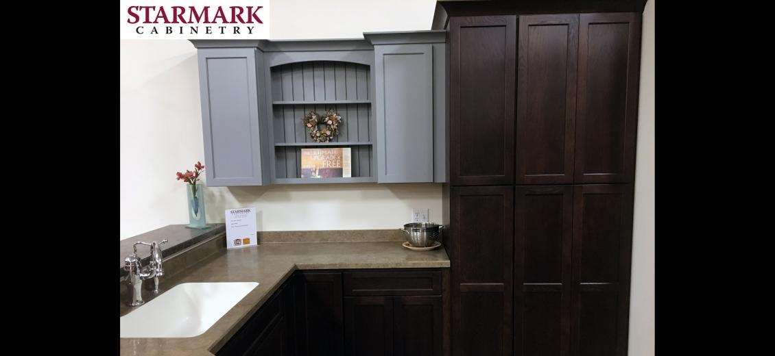 StarMark Cabinetry kitchen display at Waterloo HEP Sales/North Main Lumber, 0446 Waterloo Geneva Road
