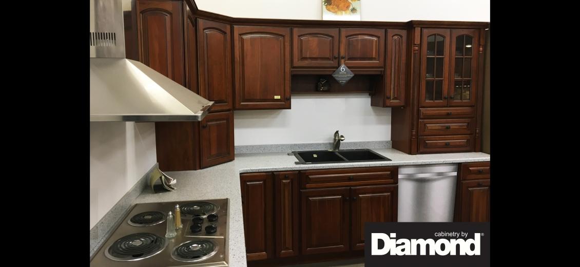 Diamond Distinction kitchen display at Elmira HEP Sales, 2400 Corning Road