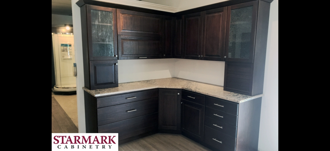 StarMark Cabinetry kitchen display at Wellsville North Main Lumber, 6 West Dyke Street