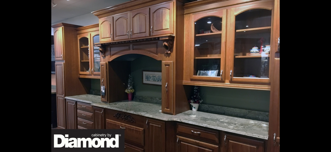 Diamond Distinction kitchen display at Hornell North Main Lumber, 1080 West Main Street