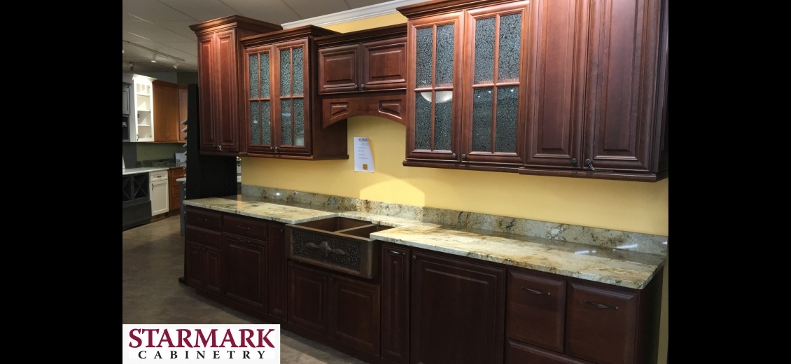 StarMark Cabinetry kitchen display at Hornell North Main Lumber, 1080 West Main Street